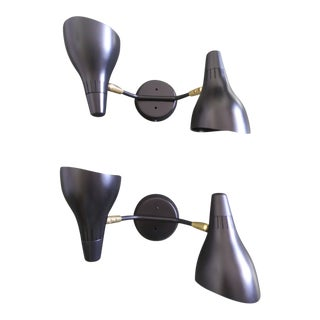 1950s Mid-Century Modern Gerald Thurston for Lightolier Wall Sconces - a Pair For Sale