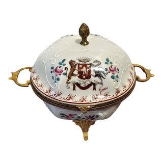 Samson Paris Signed Porcelain Trinket Box For Sale
