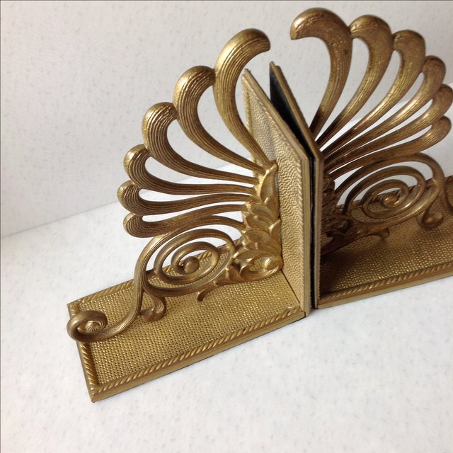 Antique Brass Radius Bookends - A Pair - Image 11 of 11