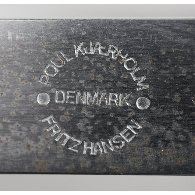 Silver Poul Kjærholm Pk 61 Coffee Table for Fritz Hansen, 1980s For Sale - Image 8 of 10
