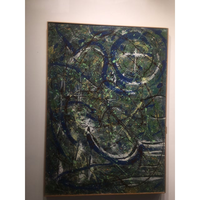 Abstract Expressionist Drip Glaze Style Painting For Sale - Image 13 of 13