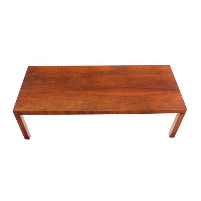 Early 20th Century Directional Mid-Century Modern Expandable Walnut Coffee Table For Sale - Image 5 of 8