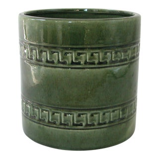 1960s Mid-Century Modern Haeger Green Ceramic Planter Vase
