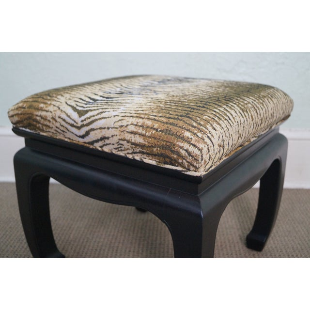 Ebonized Asian Influenced Ottoman/Benches - A Pair - Image 7 of 10