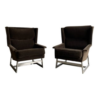 Adrian Pearsall Geometric Wingback Chairs For Sale