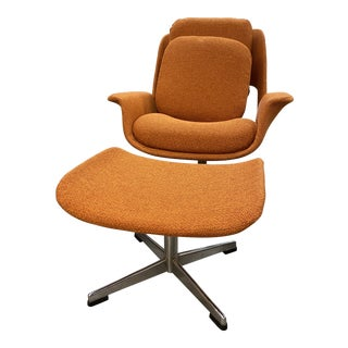 Mid-Century Womb Chair With Ottoman From Stendig Furniture For Sale