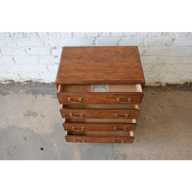 Vintage Walnut Chest by Davis Cabinet Co. For Sale In South Bend - Image 6 of 9