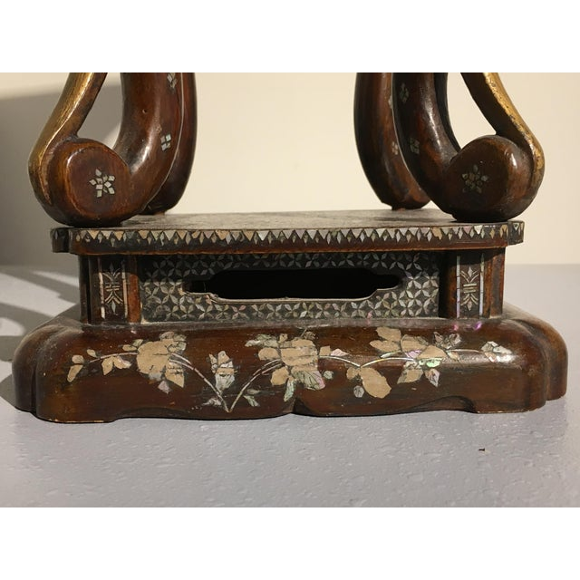 Early 19th Century Japanese Ryukyu Islands Lacquer and Mother of Pearl Small Side Table For Sale - Image 5 of 11
