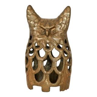 Vintage Brass Horned Owl For Sale