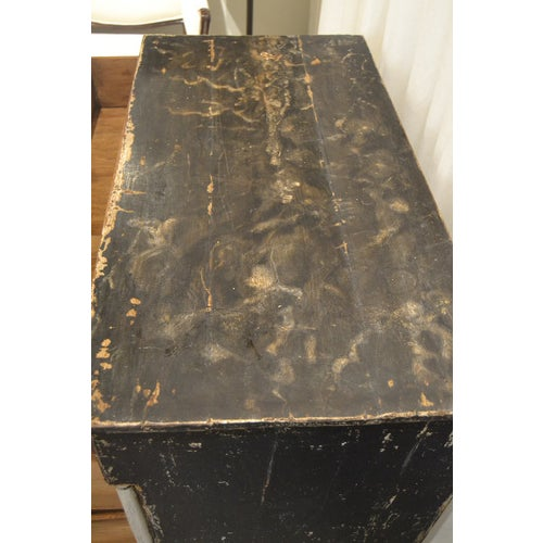 Antique Chest With New Paint (Black and White) From Spain For Sale - Image 9 of 13