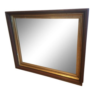 19th Century Traditional Wood-Framed Mirror With Original Gold Gilt For Sale