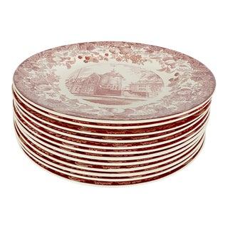 Vintage 1941 Wedgwood Harvard University Commemorative Plates - Set of 12 For Sale