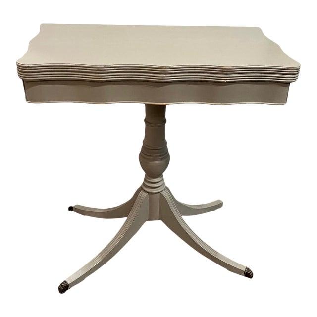 Vintage Traditional Flip Top Pedestal Table For Sale