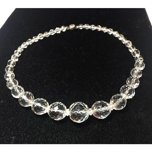 Metal Edwardian Cut Lead Crystal Bead Choker Necklace & Sterling Earrings,1905 For Sale - Image 7 of 13