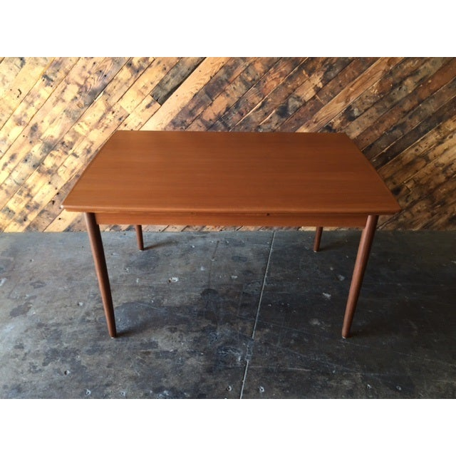 Mid-Century Danish Modern Refinished Dining Table - Image 5 of 8