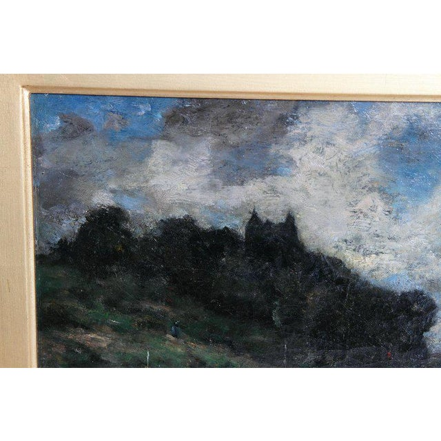 19th Century English Oil Canvas Atmospheric Landscape For Sale In Dallas - Image 6 of 13