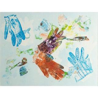"""Untitled"" Monoprint of Gloves by Jacklyn Friedman"