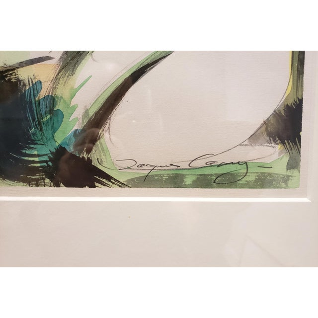 2010s Watercolor Dancers by Artist Jacques Lamy For Sale - Image 5 of 7