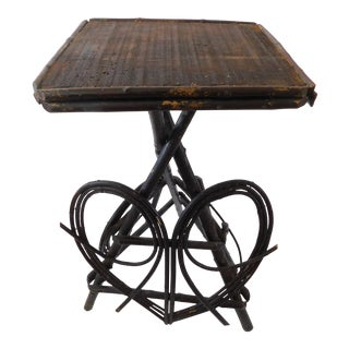 20th C. American Adirondack Twig Willow Table For Sale