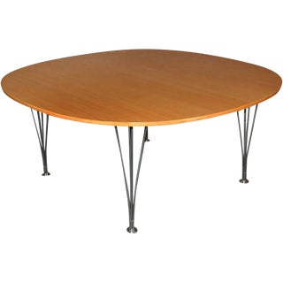 Superellipse Coffee Table by Bruno Mathsson and Piet Hein For Sale
