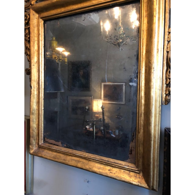 Early 19th Century Antique Neo Classical Carved Wood Italian Gilt Mirror For Sale - Image 9 of 12