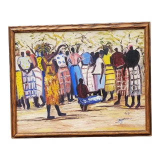 Mid-Century Modern African Oil For Sale