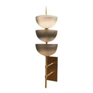 The Small Gilles Wall Sconce with Glass by Seguso