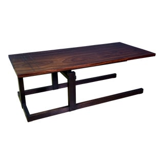Thomas Swift Studio Teak and Lacquered Coffee Table, Usa 1980s For Sale
