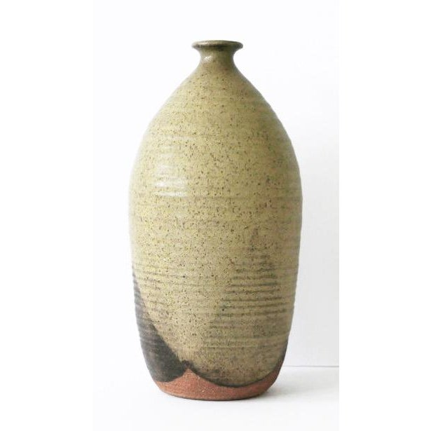Figurative Ceramic Pottery With Triangular Pattern For Sale - Image 3 of 7
