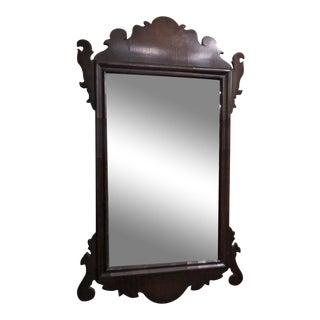 Antique English Early 19th Century Chippendale Mahogany Mirror, Circa 1800-1820.