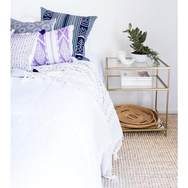 Lilac & White Ikat Guatemalan Pillow - Image 5 of 9