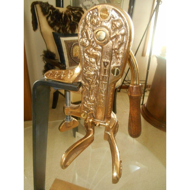 Solid Brass Vintner Wine Bottle Opener/Recorker For Sale - Image 5 of 6