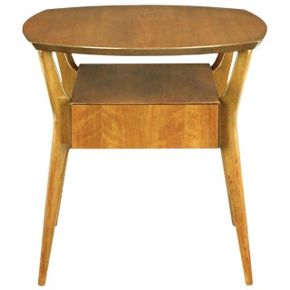 M. Singer & Sons Italian Walnut Side Table For Sale