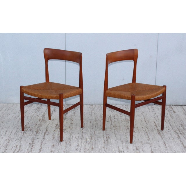 Wood 1950's Danish Teak Sculptural Dining Chairs - Set of 6 For Sale - Image 7 of 13
