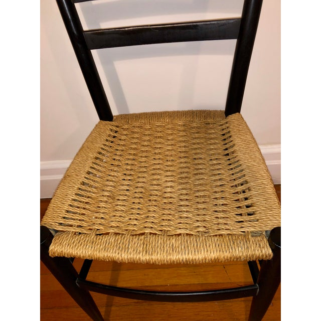 Traditional Mid Century Modern Gio Ponti Black Side Chair For Sale - Image 3 of 8