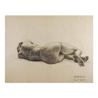 1950's Studio Drawing Reclining Female Figure For Sale