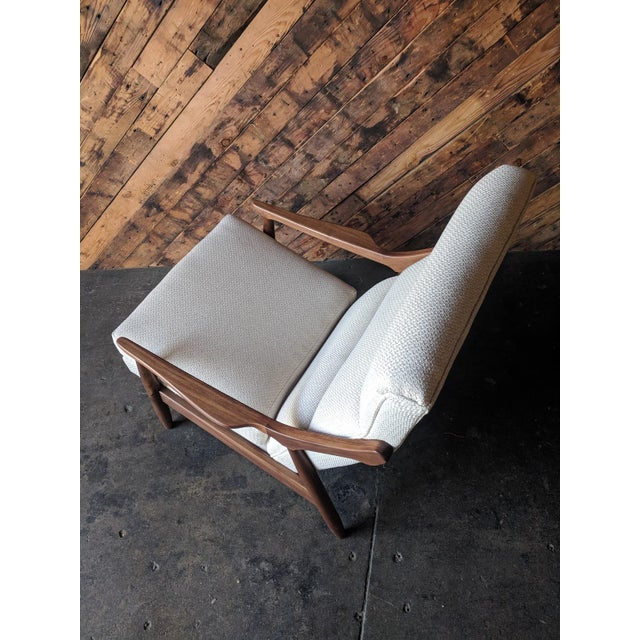 Not Yet Made - Made To Order Custom Danish Mid Century Style Lounge Chair For Sale - Image 5 of 9