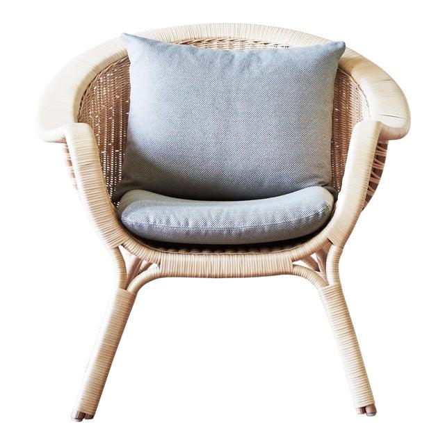 Nanna Ditzel Madame Chair - Natural - Sunbrella Sailcloth Seagull Seat and Back Cushion For Sale