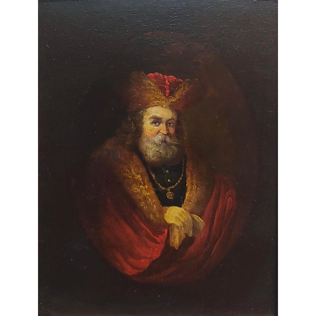 Figurative Portrait of a Monarch -18th Century Flemish Oil Painting For Sale - Image 3 of 8