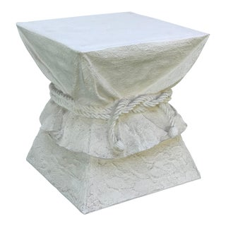 Faux Plaster Drape Pedestal / Table Base For Sale