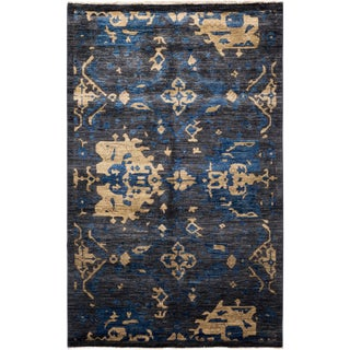 """Eclectic, Hand Knotted Area Rug - 4' 3"""" X 6' 8"""""""