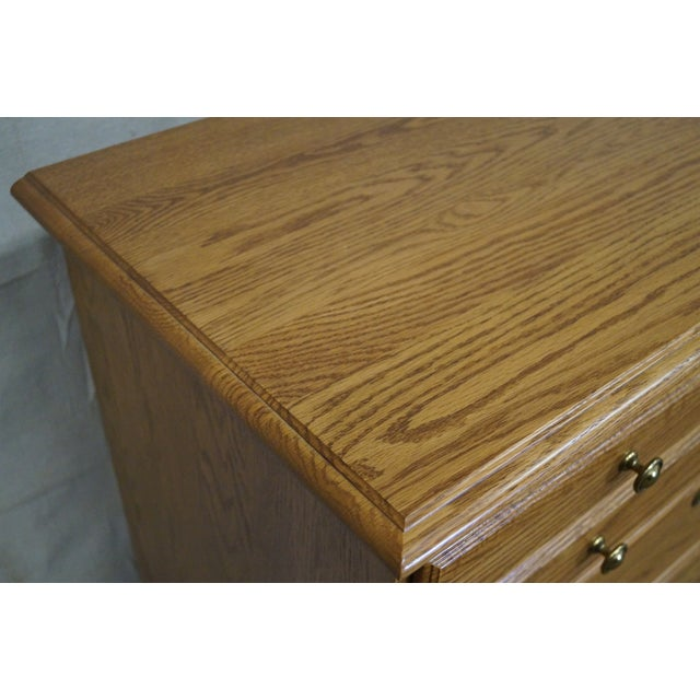 Chippendale Style Solid Oak Tall Chest on Chest For Sale In Philadelphia - Image 6 of 10