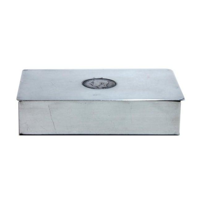 Antique English Silver Plate Snuff Box | Chairish