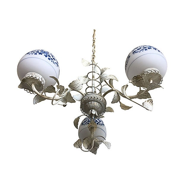 1960s Mid Century Floral Chandelier For Sale - Image 5 of 9