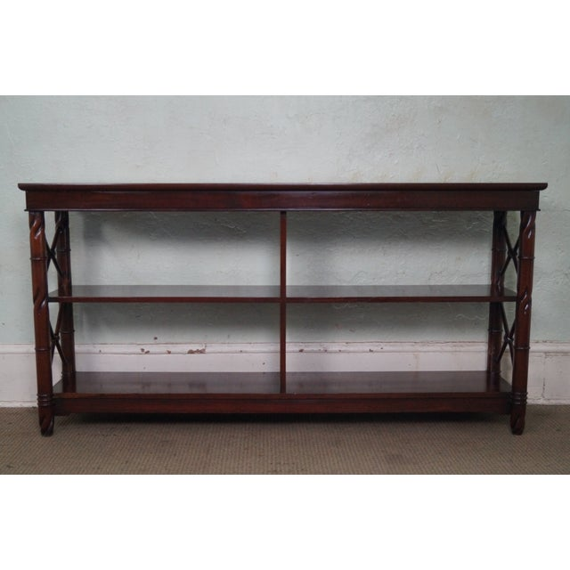Store Item #: 14575 Custom Quality Mahogany Console Etagere AGE/COUNTRY OF ORIGIN: Approx 20 years, Unknown...
