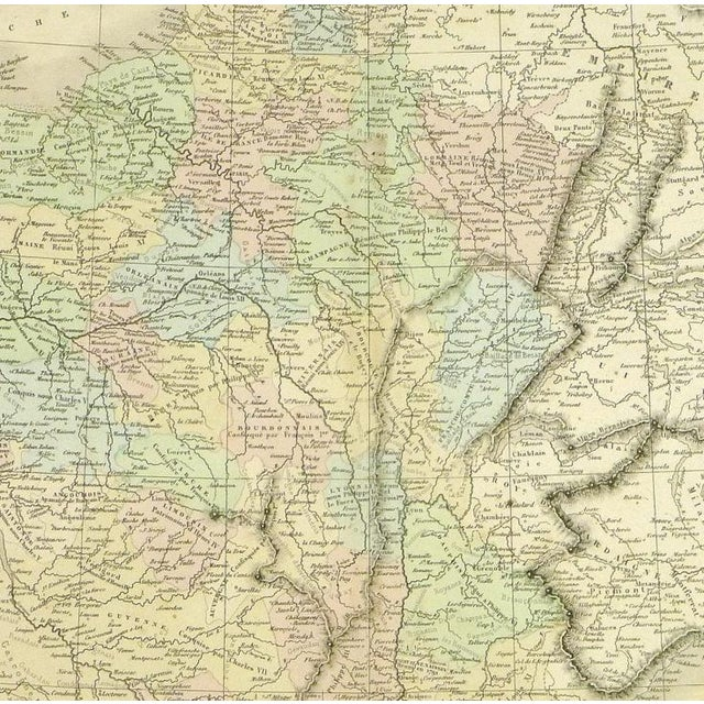 Antique Map of France, 1860 - Image 2 of 4