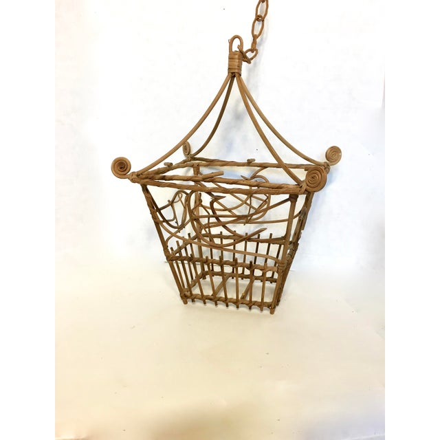 Vintage Wicker Pagoda Bird Cage - Image 4 of 4