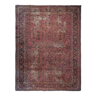 1920s Vintage Distressed Persian Rug For Sale