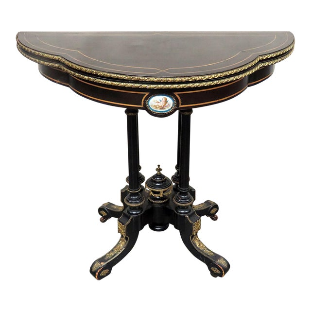 Louis Philippe Flip Top Card Table For Sale