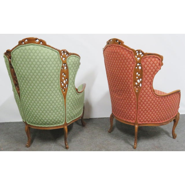 Figurative Louis XV Style Carved Chairs- a Pair For Sale - Image 3 of 10